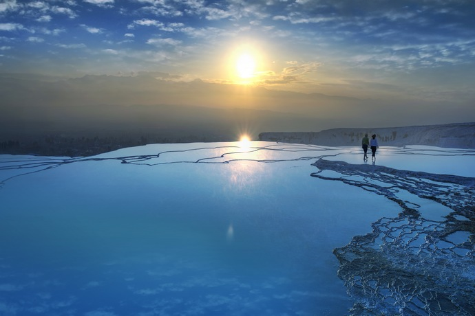Home of Pamukkale pin: Denizli, Turkey Home of Natural Therapy pin: Pamukkale, Turkey